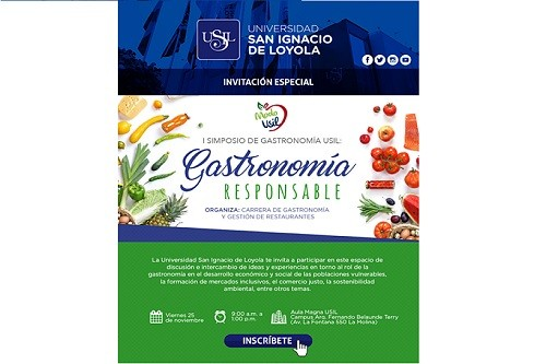 USIL organiza Simposio de Gastronomía Responsable con destacados expertos