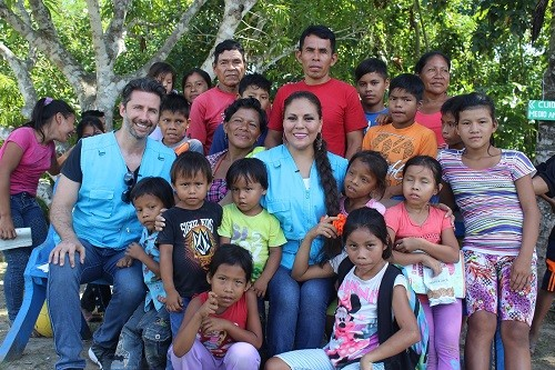 Embajadores nacionales Conocen intervenciones de Unicef en la amazonia
