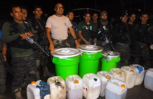 Policía Nacional decomisa 1.2 toneladas de alcaloide de cocaína en el VRAEM