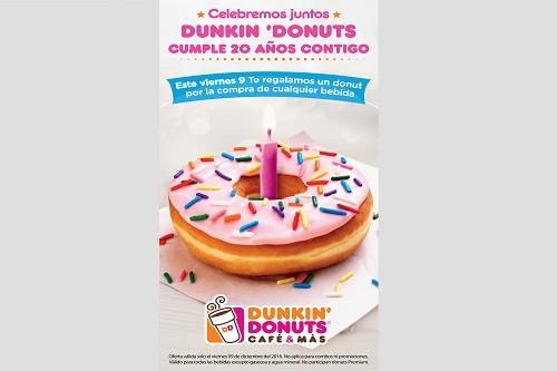 Dunkin' Donuts cumple 20 años en el Perú y te regala tu donut favorito para celebrarlo