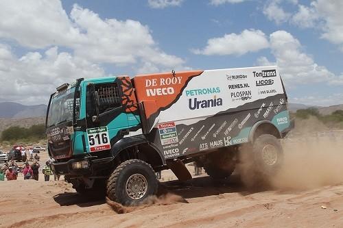 El equipo de De Rooy tiene como objetivo ganar el Rally Dakar 2017 con neumáticos de camión de Goodyear