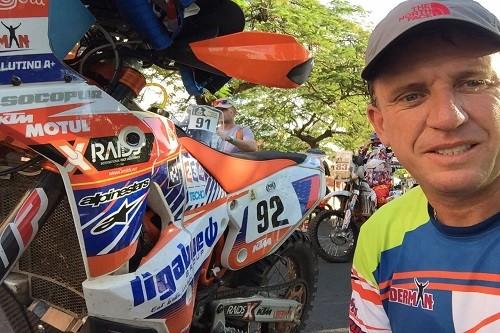 Dakar 2017: Carlo Vellutino inició su participación