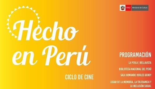 Ministerio de Cultura proyectará 18 películas en el marco del ciclo de cine 'Hecho en Perú'