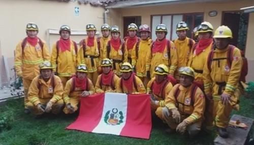 Guardaparques bomberos forestales del SERNANP viajan a Chile para apoyar en acciones contra incendios