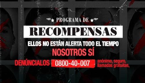 Gobierno invita a ciudadanía a colaborar con captura de delincuentes incluidos en Programa de Recompensas