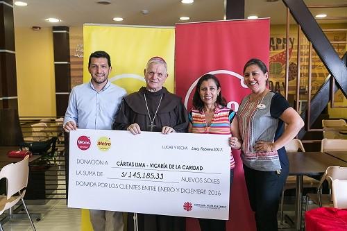 Donaciones a Cáritas Lima por los vueltos superan los 140 mil soles
