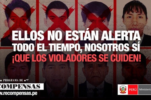 Ministro Basombrío informa difusión del programa de recompensas para atrapar a violadores sexuales