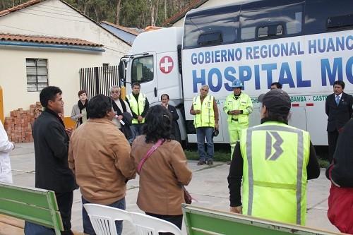 Hospital de Lircay y Buenaventura inauguran residencia para médicos y equipo de telemedicina