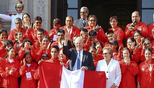 Jefe de Estado deseo éxitos a los jóvenes deportistas que participarán en Olimpiadas Especiales de Panamá