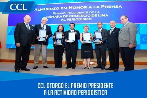 CCL otorgó el Premio Presidente a la Actividad Periodísitca
