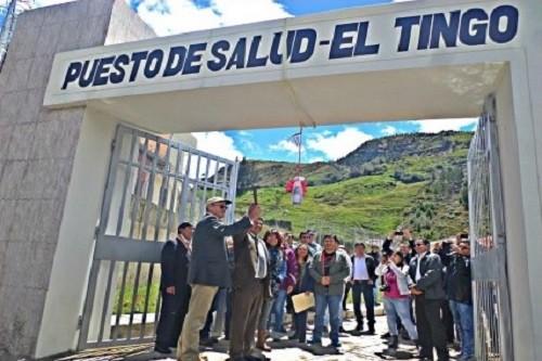 Autoridades locales, Minera Coimolache y comunidad de El Tingo inauguran centro médico