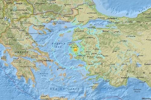 Terremoto en Turquía: choque sísmico de magnitud 6.3 golpea la costa occidental y la gran isla griega