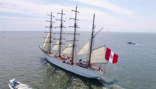 Buque itinerante 'Unión' de la Marina de Guerra del Perú, formará parte del Parade de Sail Boston