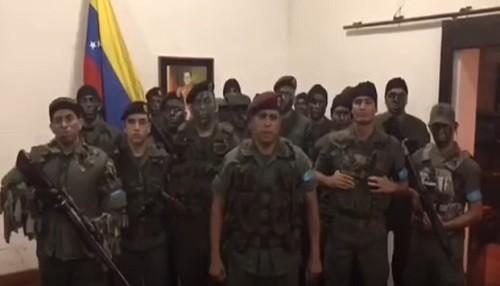 Venezuela: Soldados del ejercito se declararon en rebelión contra el gobierno