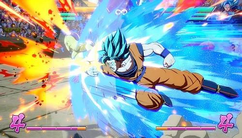 "DRAGON BALL FighterZ presenta a Goku y Vegeta en modo ""Super Saiyajin Dios Super Saiyajin"""