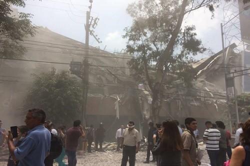 México: Violento terremoto de magnitud 7,1 golpea la capital mexicana [VIDEOS]