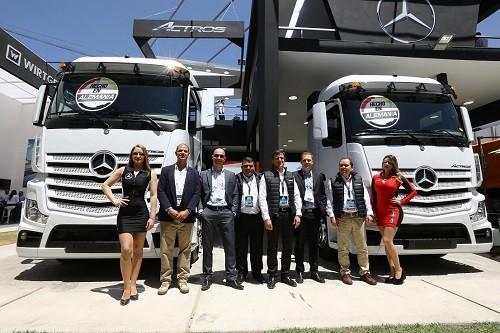 Los nuevos camiones Mercedes-Benz Actros Y Arocs son los protagonistas en Perumin