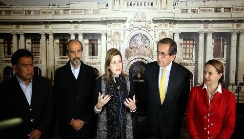 Mercedes Aráoz: Diálogo con el Congreso permitirá hacer agenda legislativa para apoyar crecimiento económico