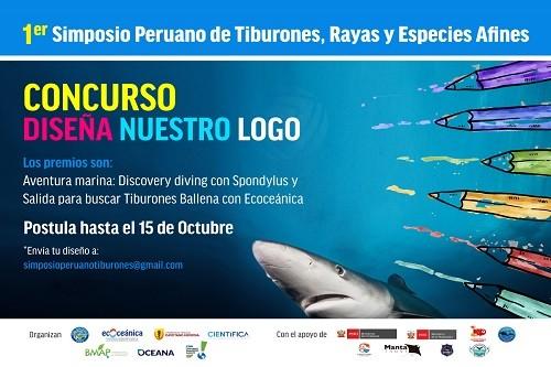 Concurso: Se el creador del logo para el Primer Simposio Peruano de Tiburones, Rayas y Especies Afines