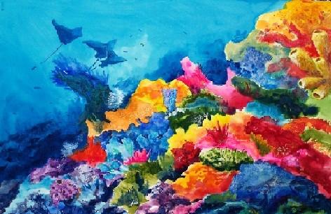 Muestra pictórica busca generar conciencia en cuidados del mar