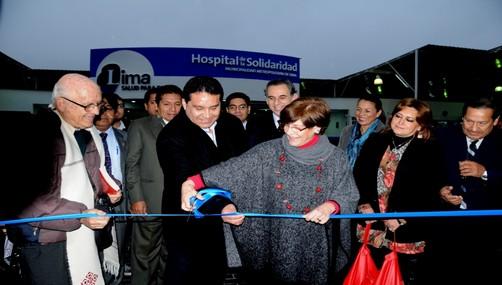 Susana Villarán inauguró Hospital de la Solidaridad de SJL