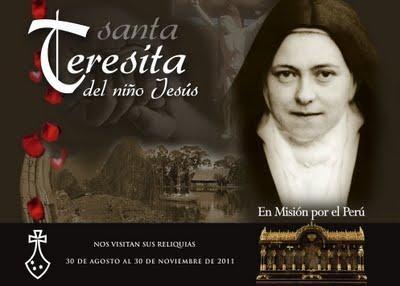 Las reliquias de Santa Teresita continúan su recorrido en Perú