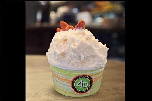 Cafeladería 4D lanza nuevo helado 'Cocada de almendras'