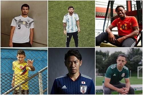 adidas Football revela los nuevos uniformes locales para las federaciones de la Copa Mundial de la FIFA Rusia 2018TM