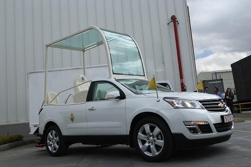 El Papa Francisco recorrerá el Perú en una Chevrolet Traverse