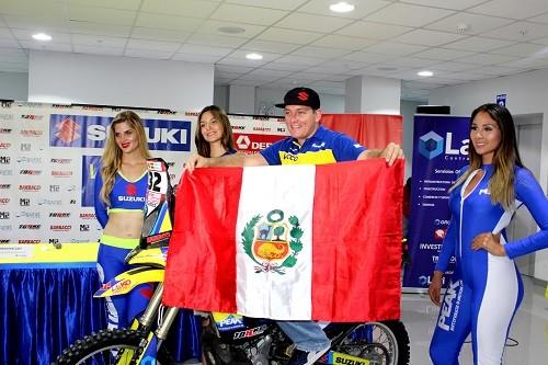 Suzuki y su piloto Roberto Vecco listos para el Dakar 2018
