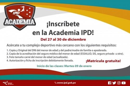 Se inician inscripciones gratuitas  programa deportivo 'La Academia'
