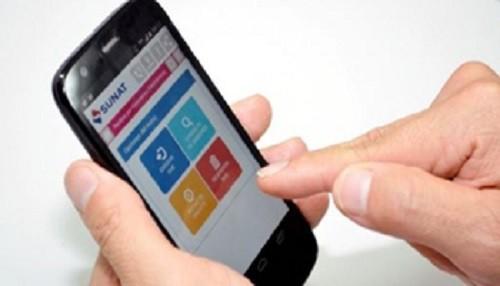 Contribuyentes podrán declarar y pagar tributos desde teléfonos celulares