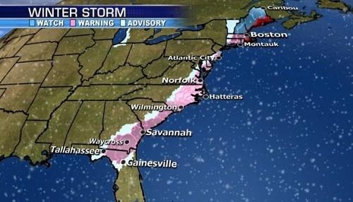 EE.UU: La costa este está a punto de ser alcanzada por un 'ciclón bomba'