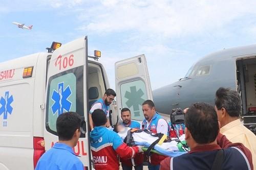 Cuarto niño afectado en incendio fue trasladado por el MINSA desde Huaraz al Instituto Nacional de Salud del Niño de San Borja