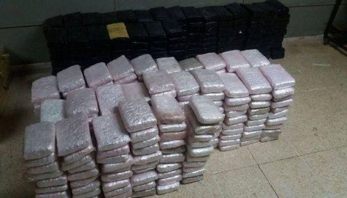 Decomisan 200 kilos de droga valorizada en ocho millones de dólares
