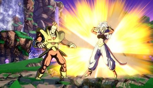 Androide 21 entra en la arena de pelea de DRAGON BALL FighterZ