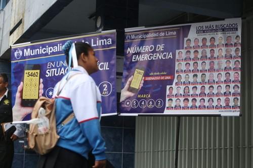 Difundirán rostros de 50 violadores más buscados e instalarán 36 cámaras de vigilancia en colegios del Cercado