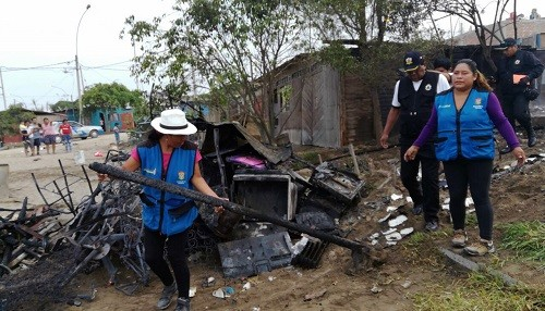 Municipalidad de Ventanilla brinda ayuda a damnificados del incendio en A.H. Los Naranjos