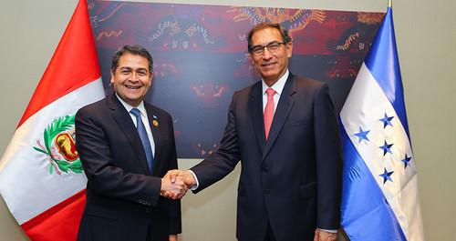 Jefes de Estado de Perú y Honduras acuerdan impulsar programa de cooperación para la producción de la semilla de papa
