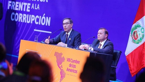 Presidente Vizcarra: 'Países de la Cumbre de las Américas demostraron su firme voluntad de avanzar en la gobernabilidad democrática'