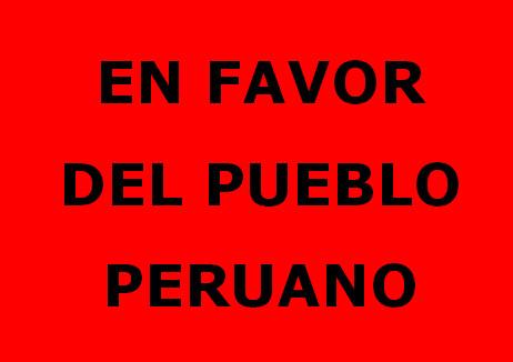 En favor del pueblo peruano
