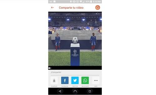 Conviértete en una leyenda del fútbol con Xperia 3D Creator