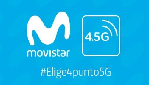 Tecnología 4.5G de Movistar ya está disponible en Lima y en algunas regiones del interior