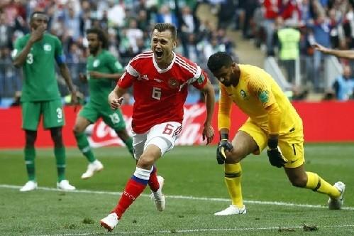 Mundial Rusia 2018: Rusia goleó 5-0 a Arabia Saudita