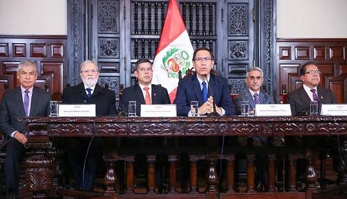 Presidente Vizcarra: 'El Estado está actuando con firmeza, oportunidad y responsabilidad ante casos de corrupción'