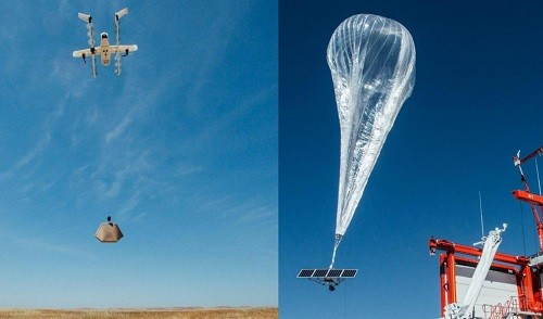 Google: Globos de banda ancha, proyectos de drones de entrega están listos para despegar