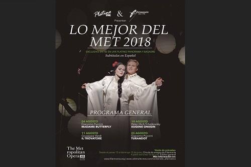 Conoce las cuatro óperas que podrás ver en 'Lo Mejor del MET 2018'