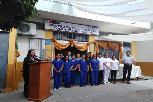 Minsa inaugura Centro de Salud Mental Comunitario de Bagua