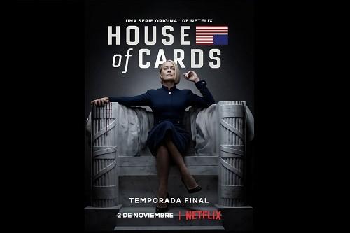 La sexta y última temporada de House of Cards regresa a Netflix el 2 de Noviembre de 2018