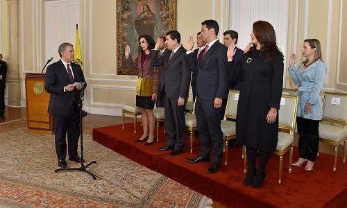 Colombia: Presidente Duque posesionó a Secretaria Jurídica de la Presidencia, 5 viceministros y directores de 4 entidades